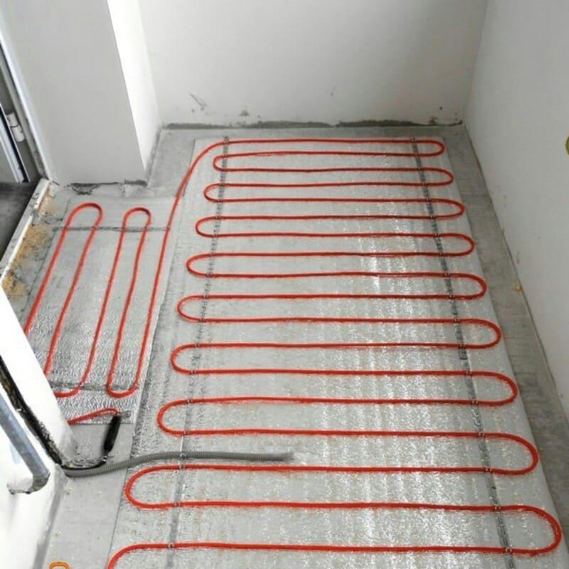 Электрический теплый пол под ламинат своими руками - пошагов.